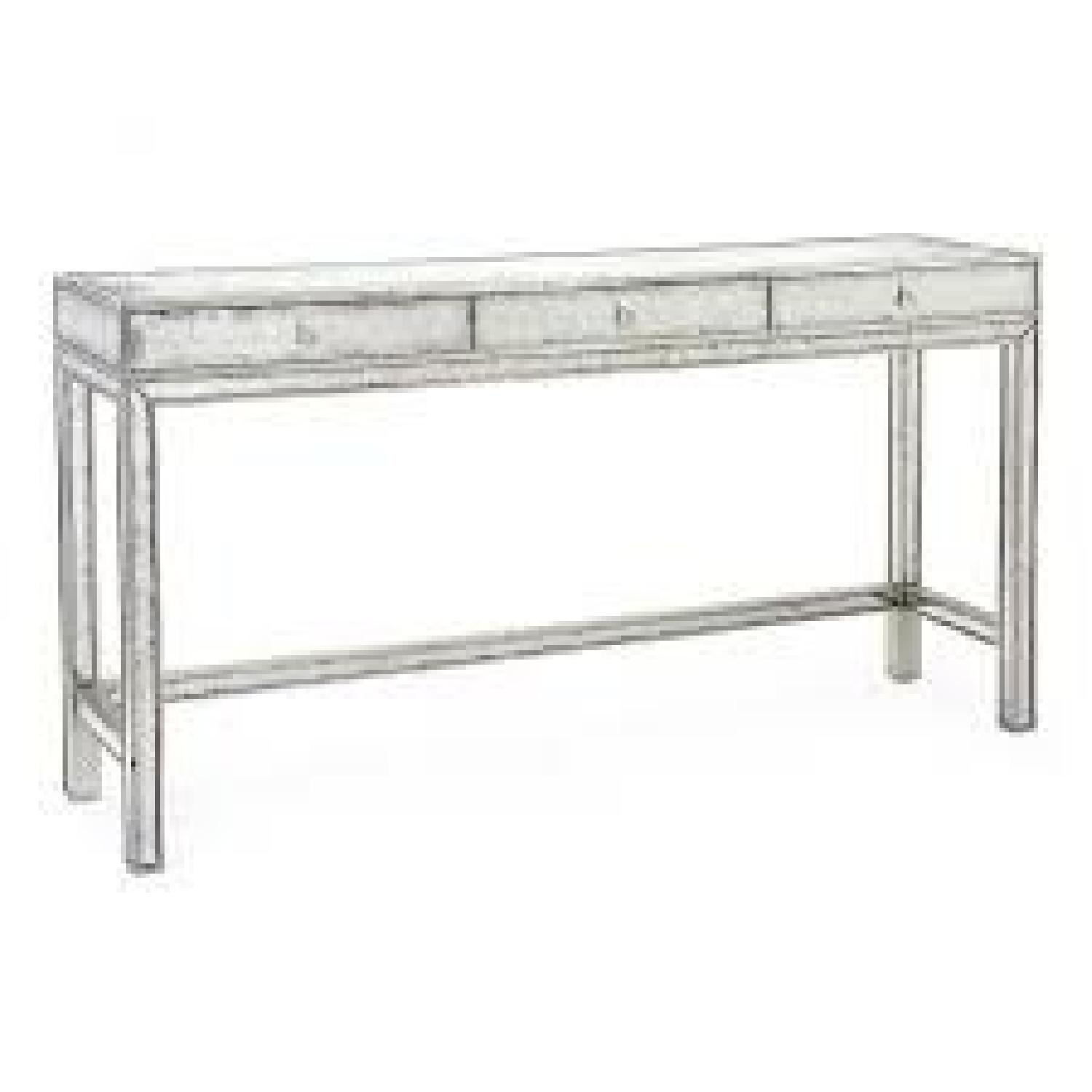 John Richard Silver Eglomise Console Table - image-0