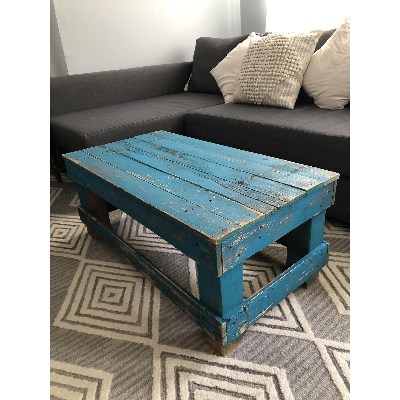 Rustic Reclaimed Wood Coffee Table - image-1