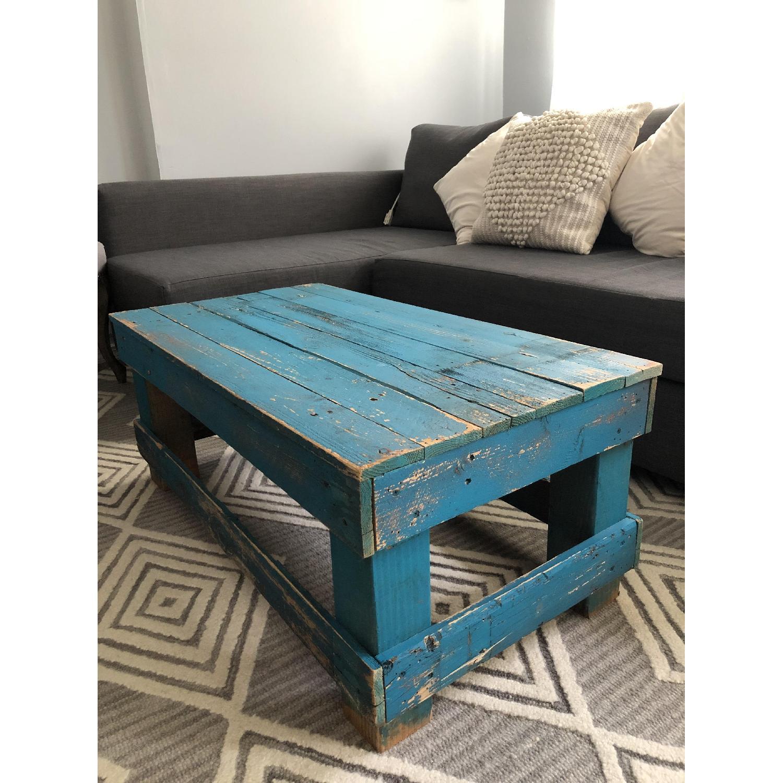 Rustic Reclaimed Wood Coffee Table - image-2