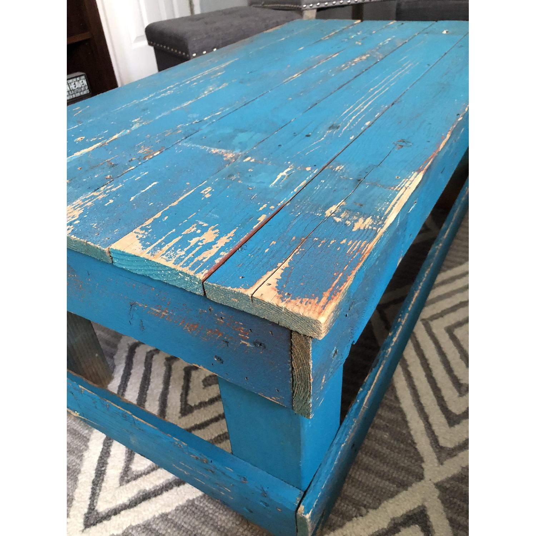 Rustic Reclaimed Wood Coffee Table - image-3