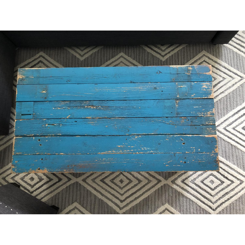 Rustic Reclaimed Wood Coffee Table - image-4