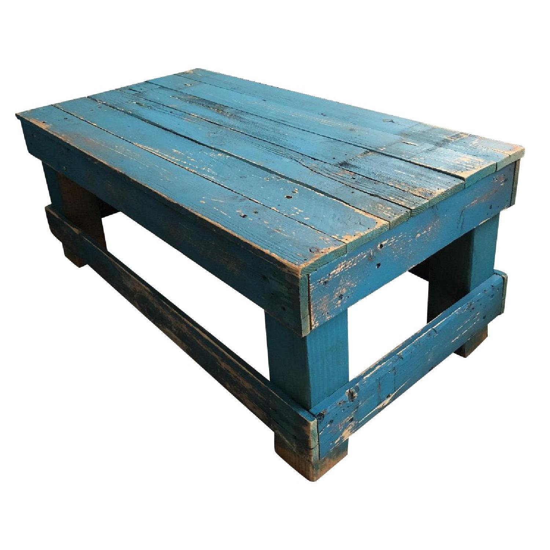 Rustic Reclaimed Wood Coffee Table - image-0
