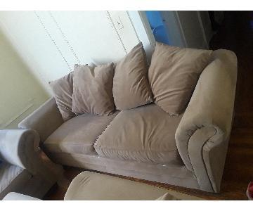 Beige Nubuck Sofa