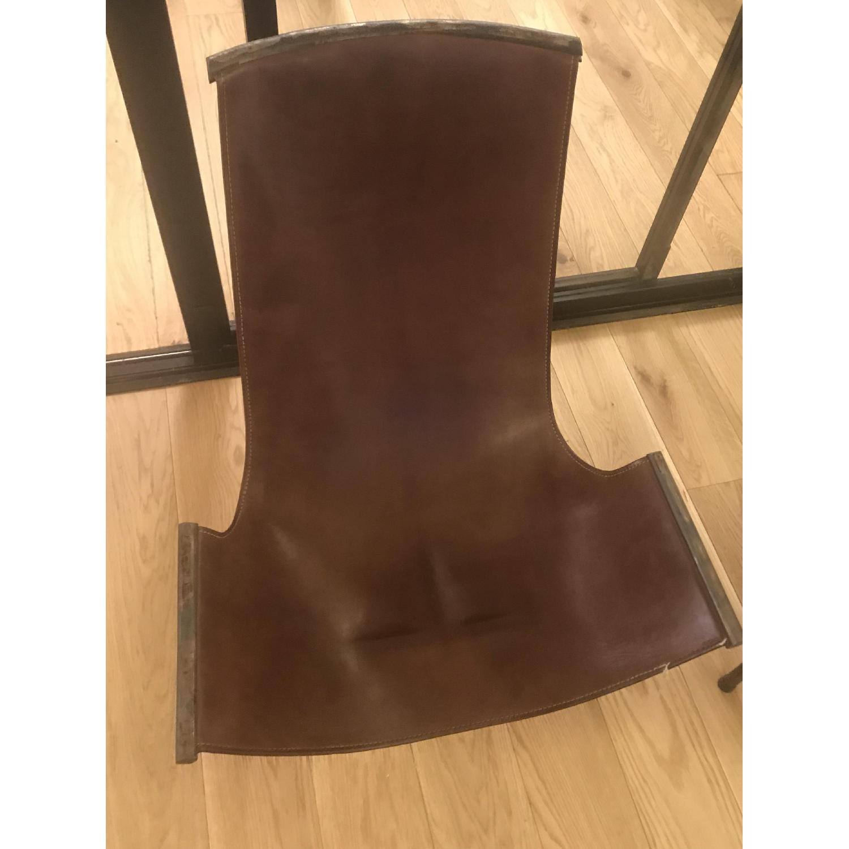 Jayson Home Zaha Leather Sling Chair - image-3