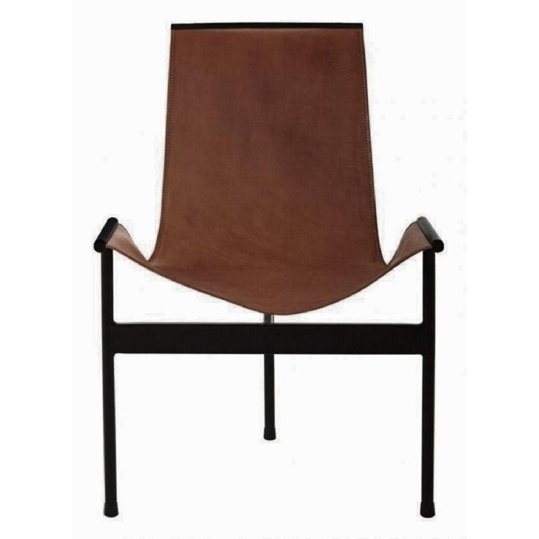 Jayson Home Zaha Leather Sling Chair - image-0