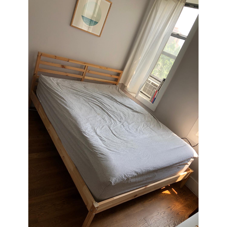 Ikea Tarva Queen Pine Bed Frame - image-1