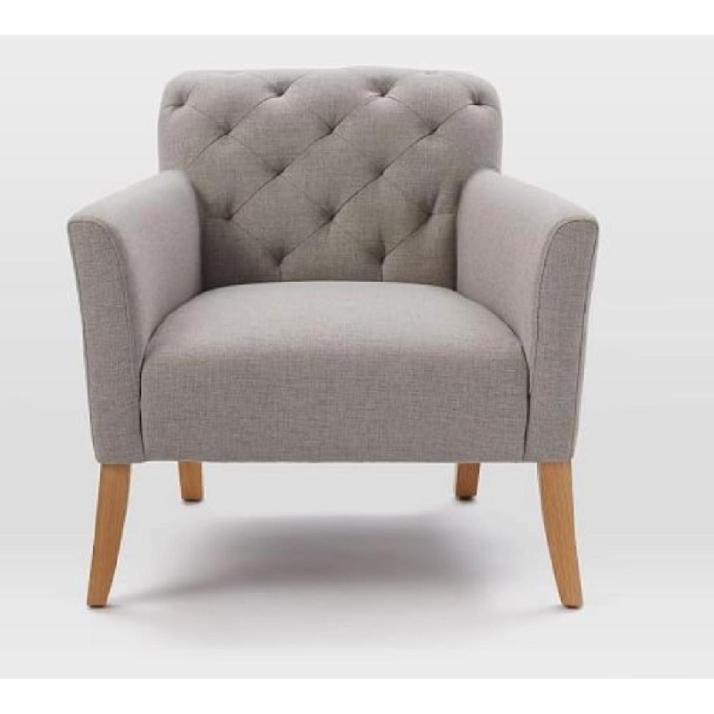 West Elm Feather Grey Elton Chair - image-1