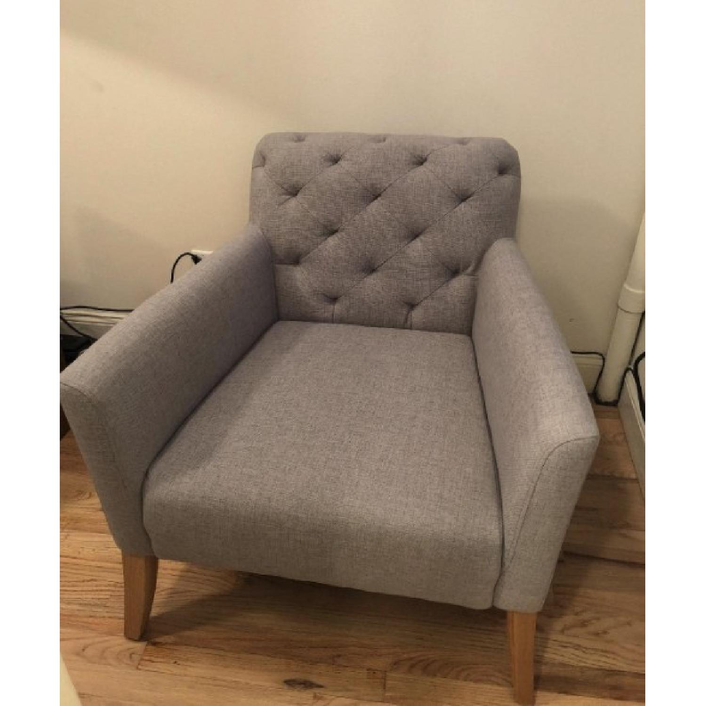 West Elm Feather Grey Elton Chair - image-2