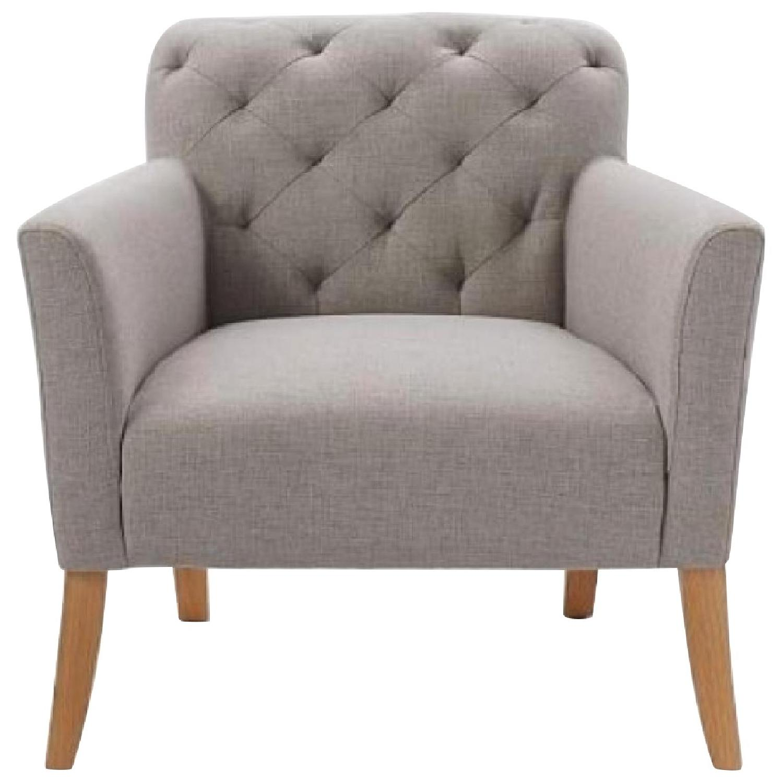 West Elm Feather Grey Elton Chair - image-0