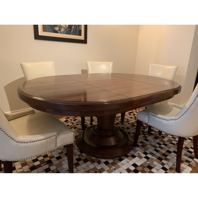 Bausman Round Dining Table w/ Leaf - image-1