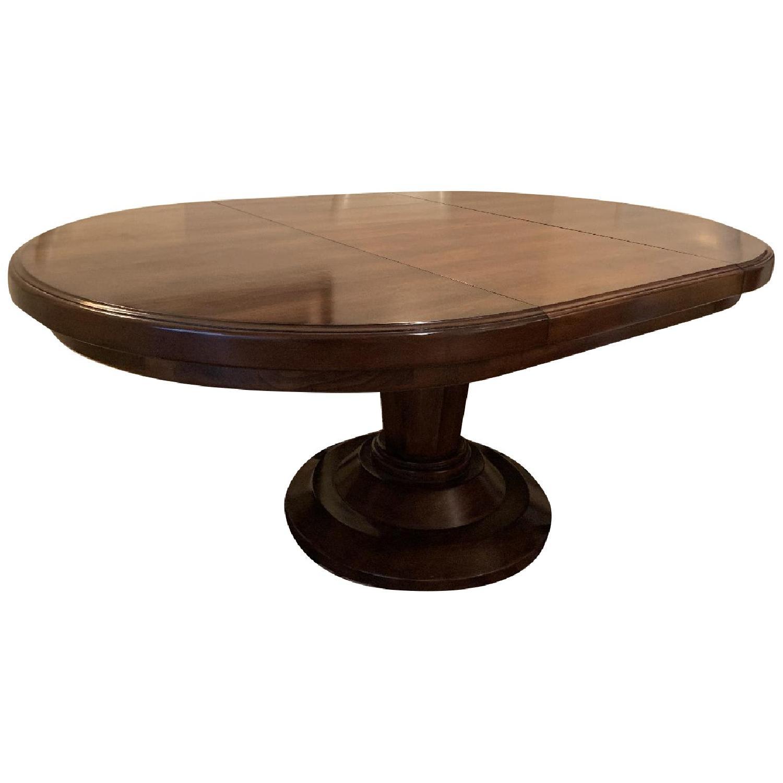 Bausman Round Dining Table w/ Leaf - image-0