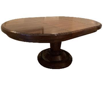 Bausman Round Dining Table w/ Leaf