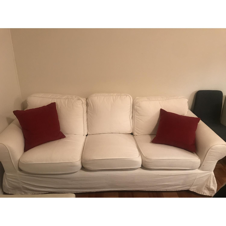 Ikea Ektorp White Sofa - image-1