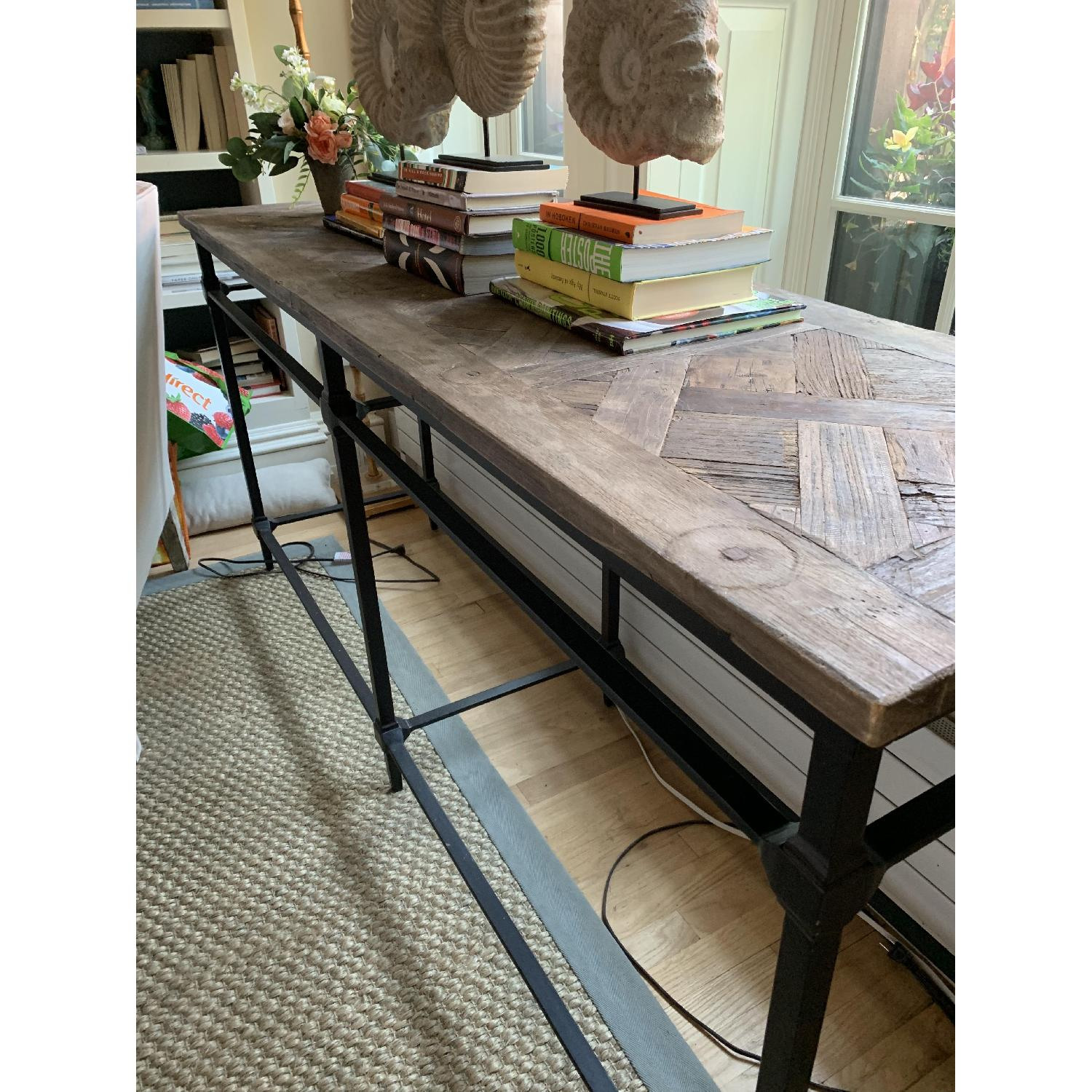 Pottery Barn Parquet Reclaimed Wood Console Table