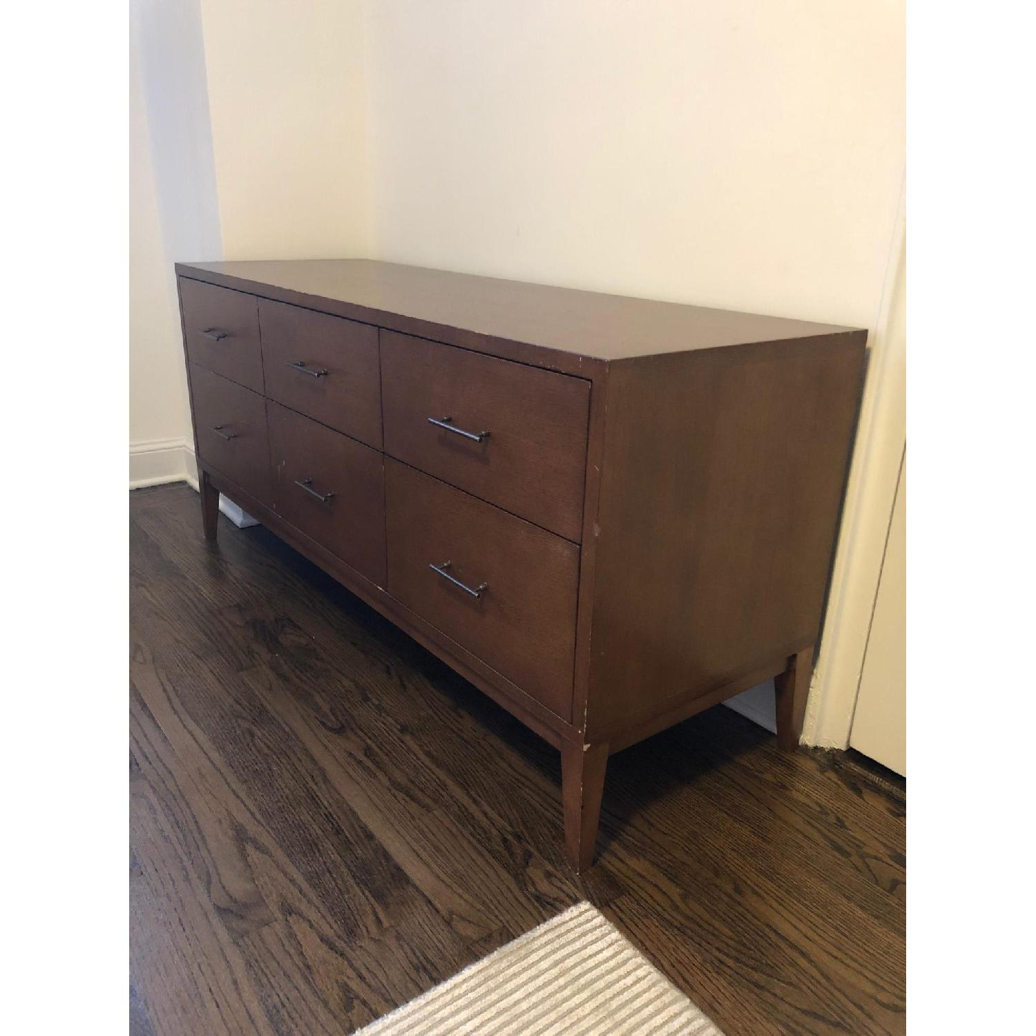 West Elm Narrow-Leg 6-Drawer Dresser in Acorn - image-1