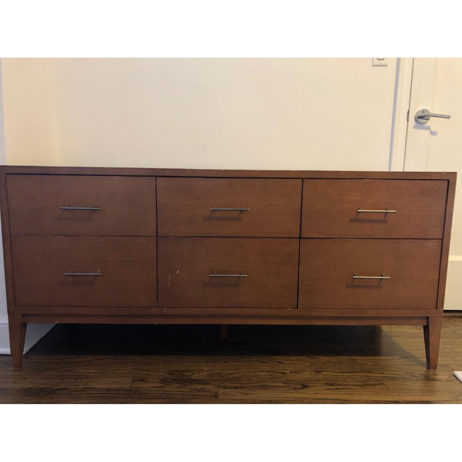 West Elm Narrow-Leg 6-Drawer Dresser in Acorn - image-2