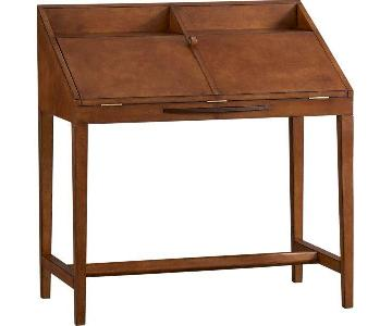 Crate & Barrel Emerson Leather Secretary Desk