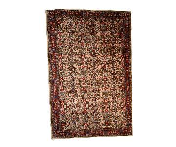 Vintage Handmade Indian Indo-Mahal Rug