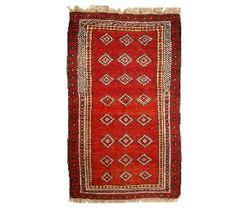 Antique Handmade Uzbek Gulyam Rug
