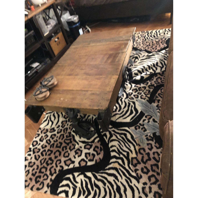 Jordans Vintage-Inspired Rustic Mine Cart Coffee Table - image-1