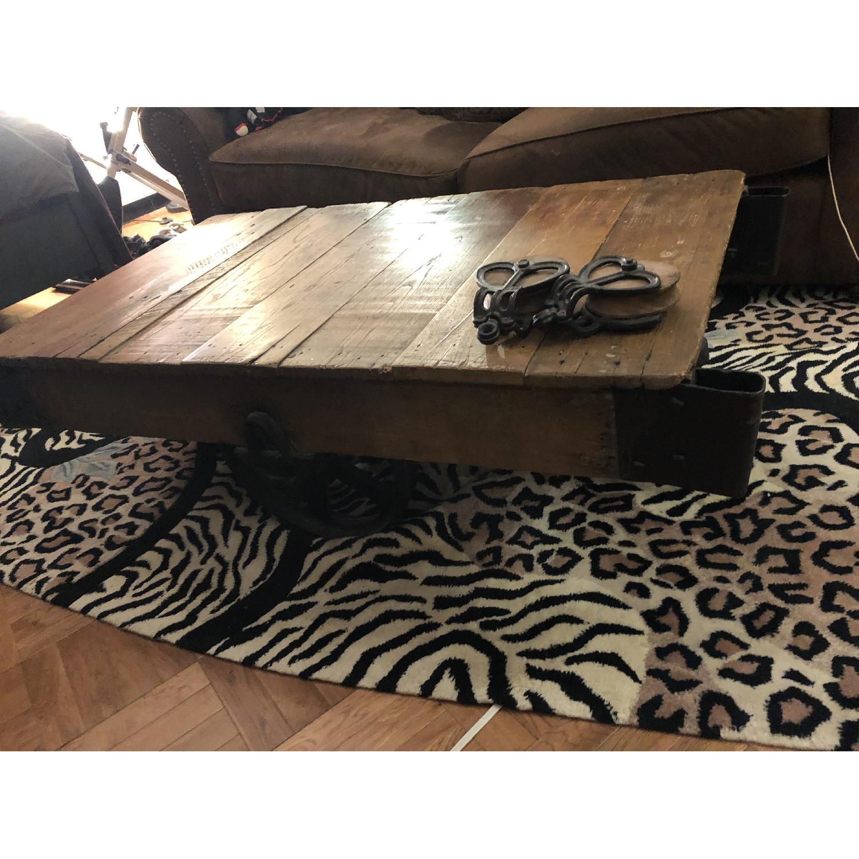 Jordans Vintage-Inspired Rustic Mine Cart Coffee Table - image-2