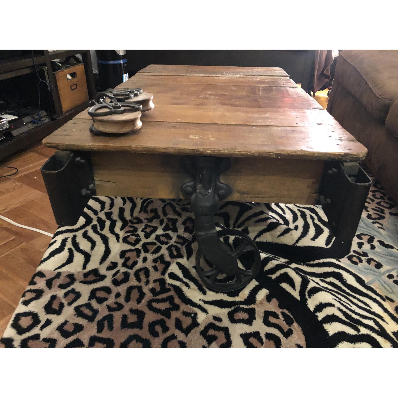 Jordans Vintage-Inspired Rustic Mine Cart Coffee Table - image-3