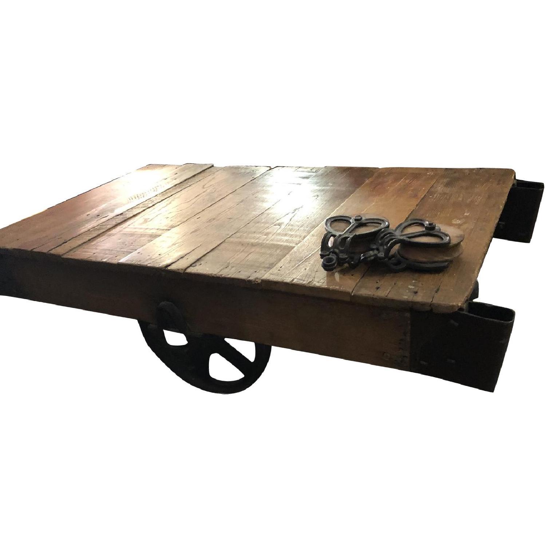 Jordans Vintage-Inspired Rustic Mine Cart Coffee Table - image-0