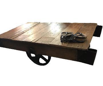 Jordans Vintage-Inspired Rustic Mine Cart Coffee Table
