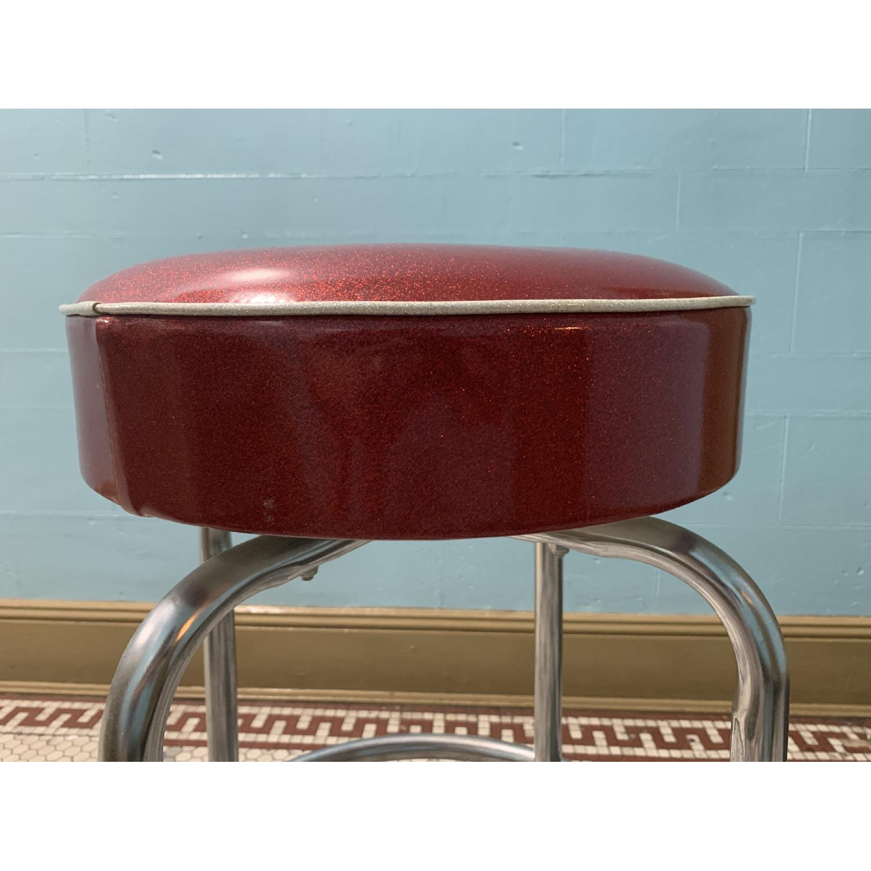 Retro Red Bar Stools - image-1
