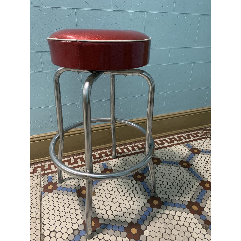 Retro Red Bar Stools - image-2