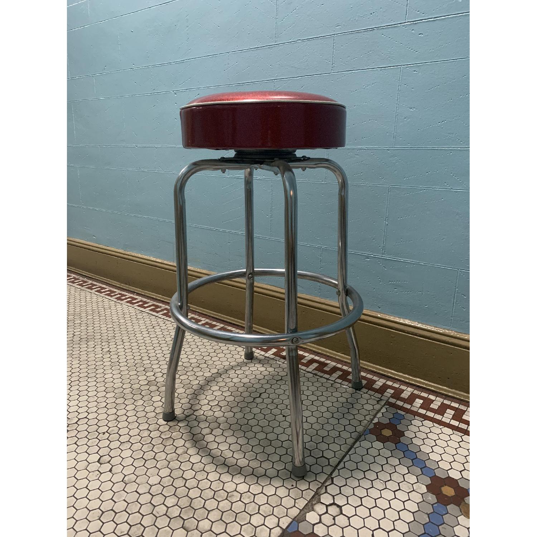 Retro Red Bar Stools - image-3