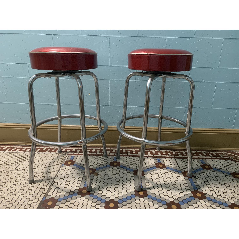 Retro Red Bar Stools - image-5