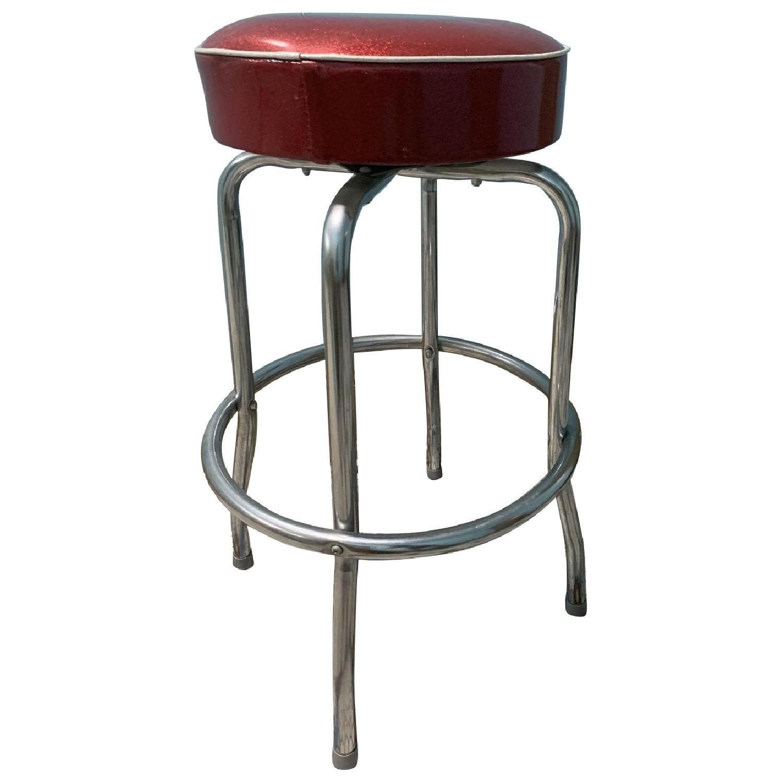 Retro Red Bar Stools - image-0