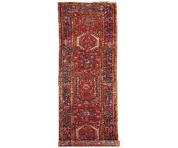 Antique Handmade Persian Karajeh Runner Rug