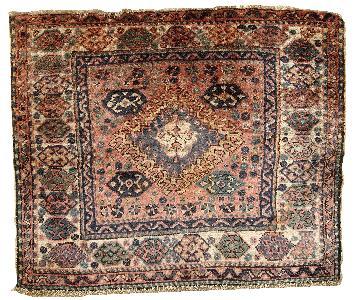 Antique Handmade Persian Kurdish Bag Face