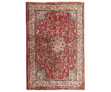 Vintage Handmade Persian Sarouk Rug
