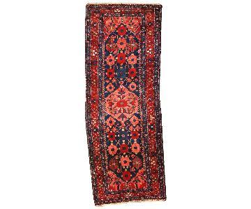 Antique Handmade Persian Hamadan Runner Rug