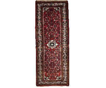 Vintage Handmade Persian Hamadan Runner Rug