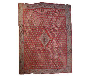 Antique Handmade Turkish Oushak Kilim Rug