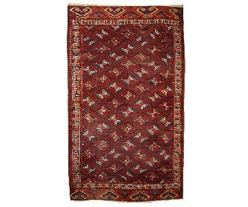 Antique Handmade Turkmen Yomud Rug