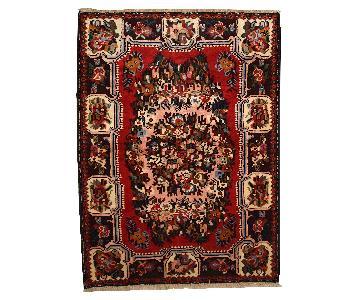 Vintage Handmade Persian Bakhtiari Rug
