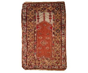 Vintage Handmade Prayer Turkish Melas Rug