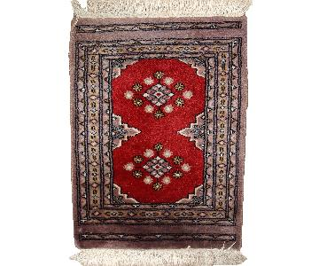 Vintage Handmade Uzbek Bukhara Rug