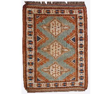 Vintage Handmade Caucasian Kazak Rug