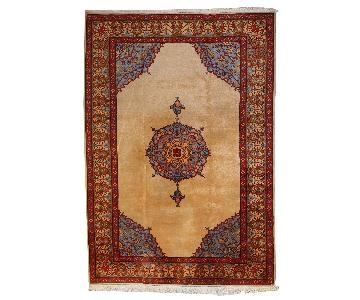 Vintage Handmade Persian Tabriz Rug