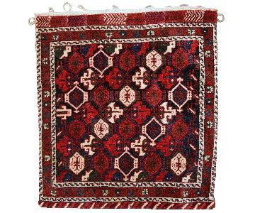 Vintage Handmade Persian Afshar Salt Bag Rug