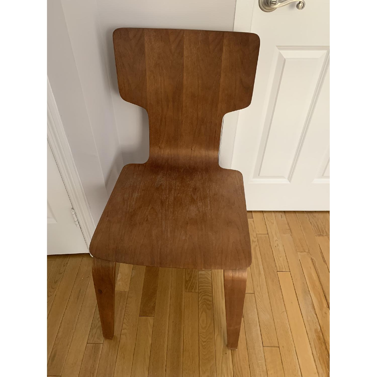 West Elm Stackable Dining Chair in Walnut - image-1