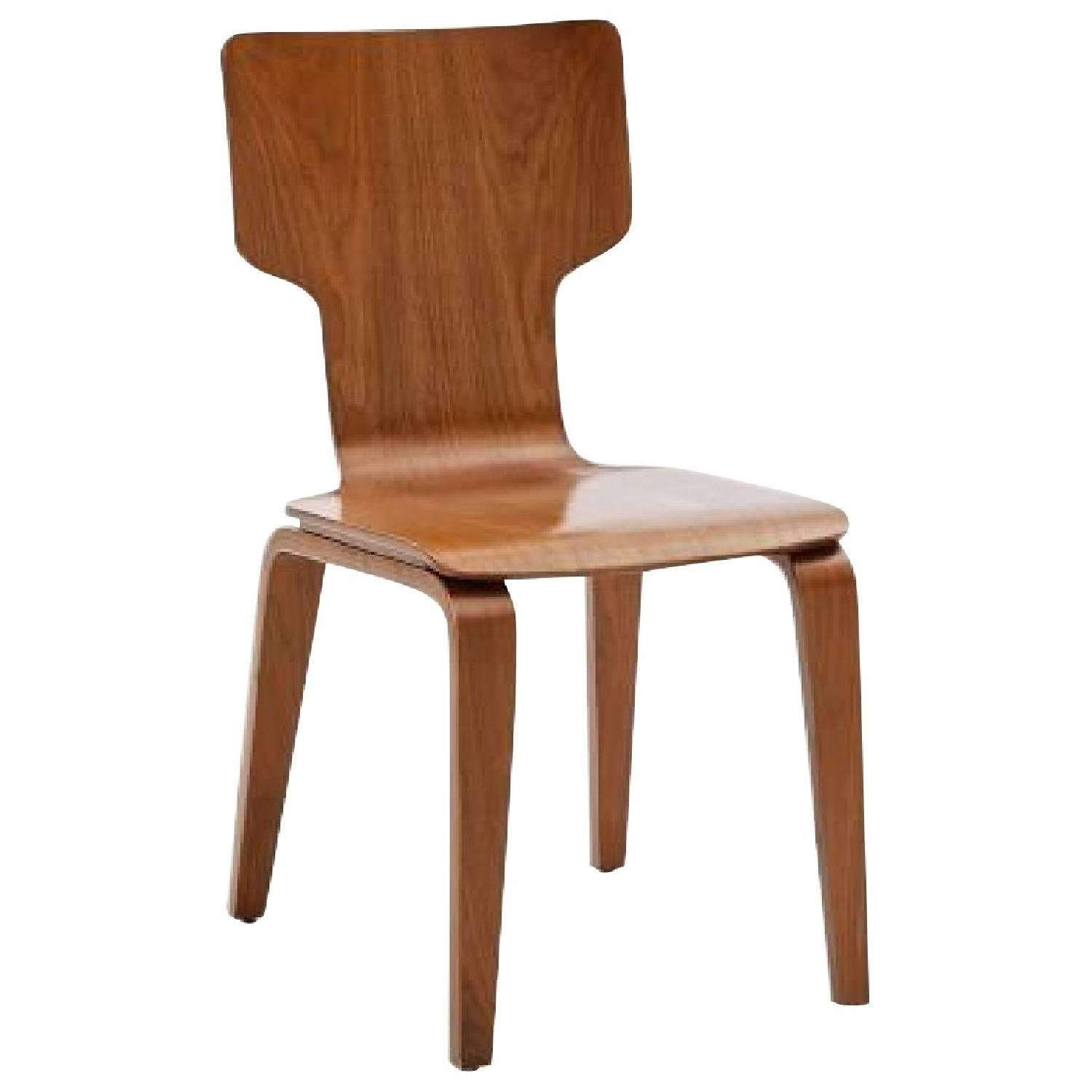 West Elm Stackable Dining Chair in Walnut - image-0