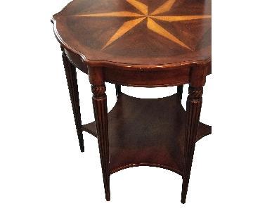 Star Pinwheel Inlay Solid Wood Side Table