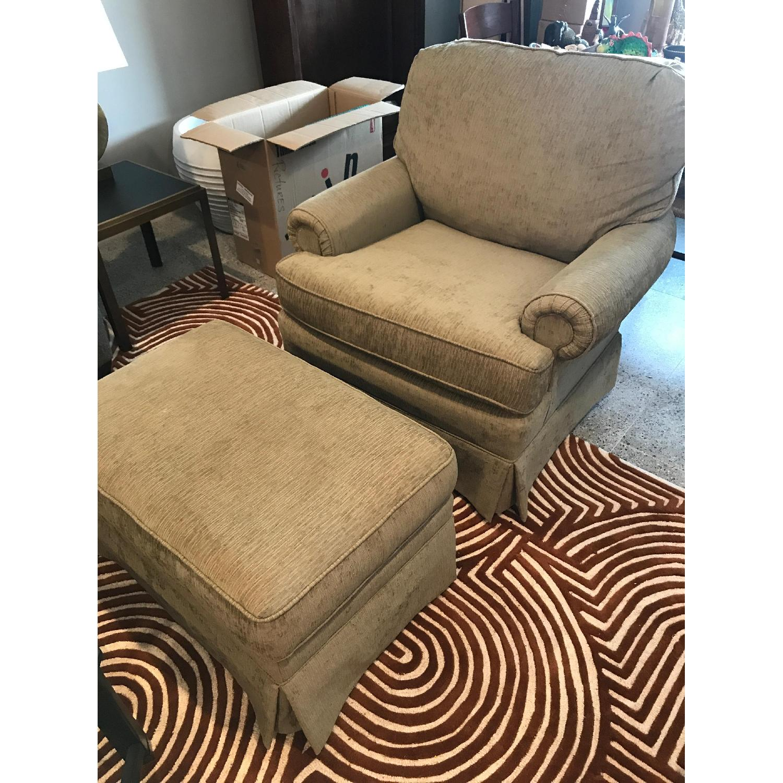 Slipcovered Chair & Ottoman - image-2